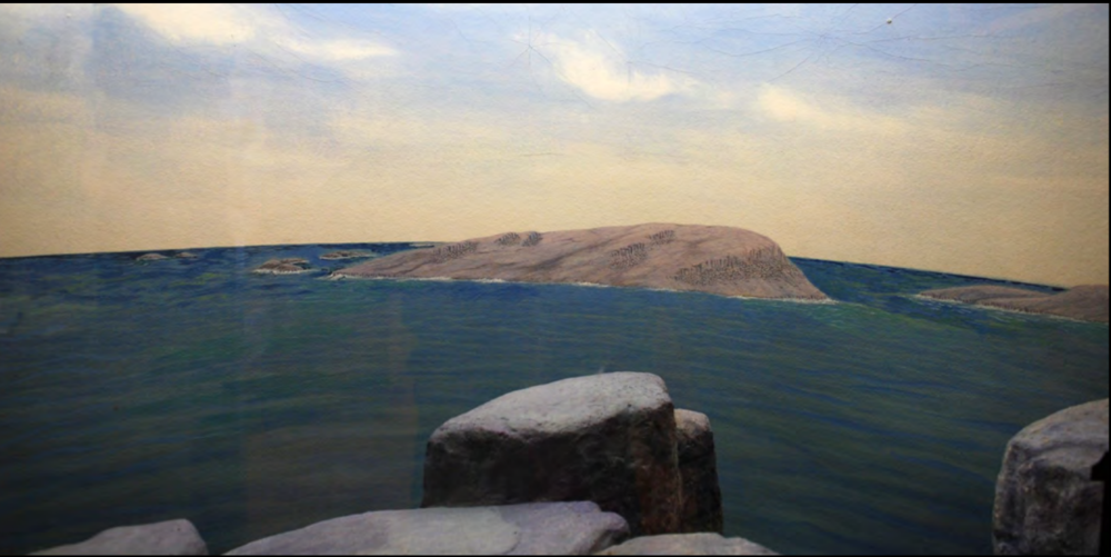 Two of several panoramas depicting the evolution of the lake.