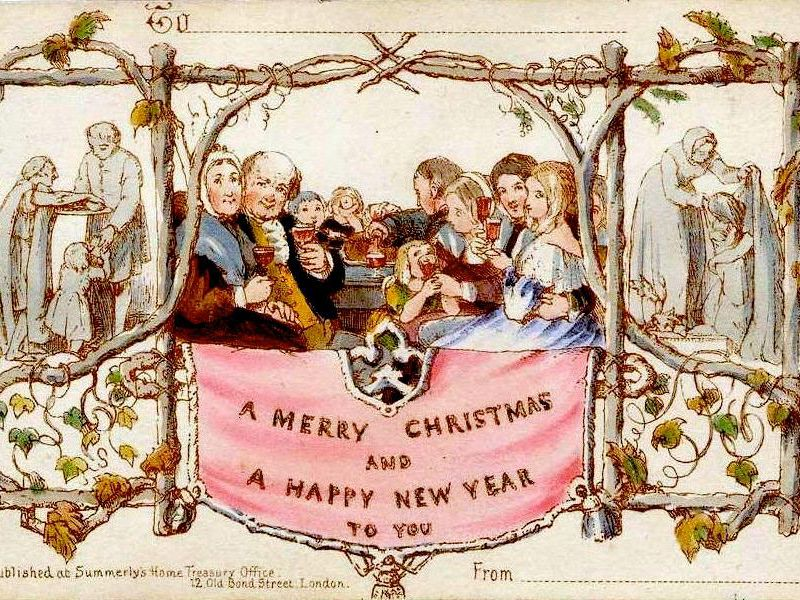 The first Christmas card was created in England in 1843 by Sir Henry Cole.