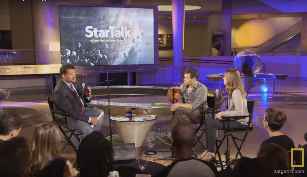 With Neil deGrasse Tyson & Michael Ian Black on StarTalk, Museum of Natural History, New York