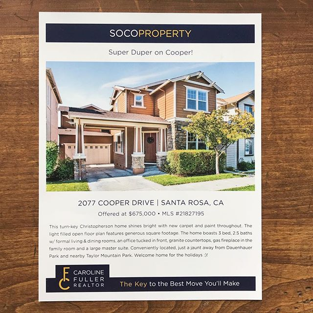 Great photos + great printing = perfect real estate fliers! 🏡 Are you a realtor selling a #sonomacounty house? Look no further for your #fliers than SR Print!