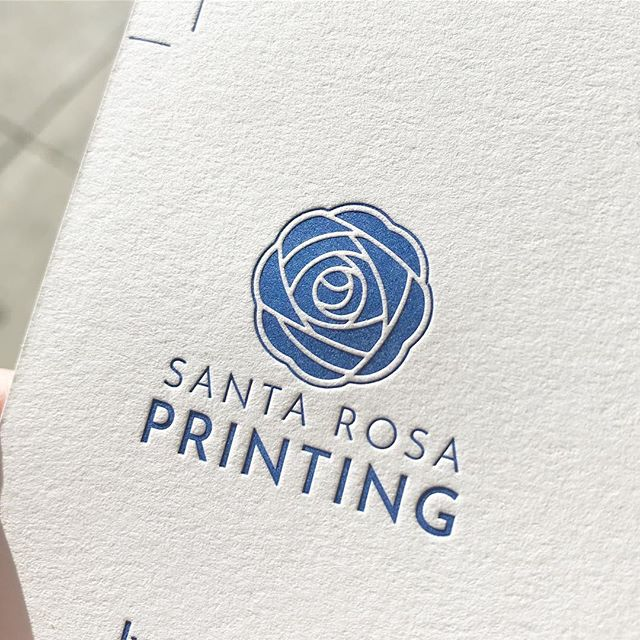Our new logo, lookin' pretty sweet on #letterpress business cards💙