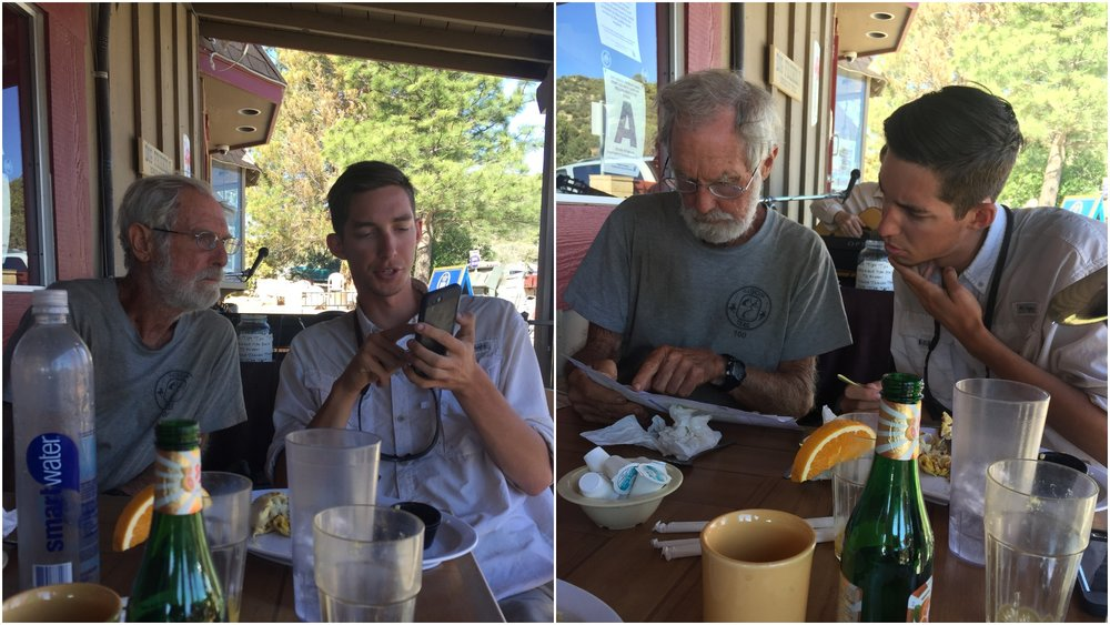 Generational discussion on GPS vs paper maps with Bill and Joe