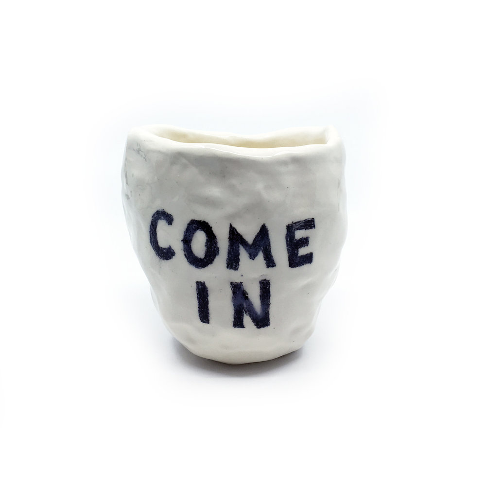 Come In    ceramic  (side 1)