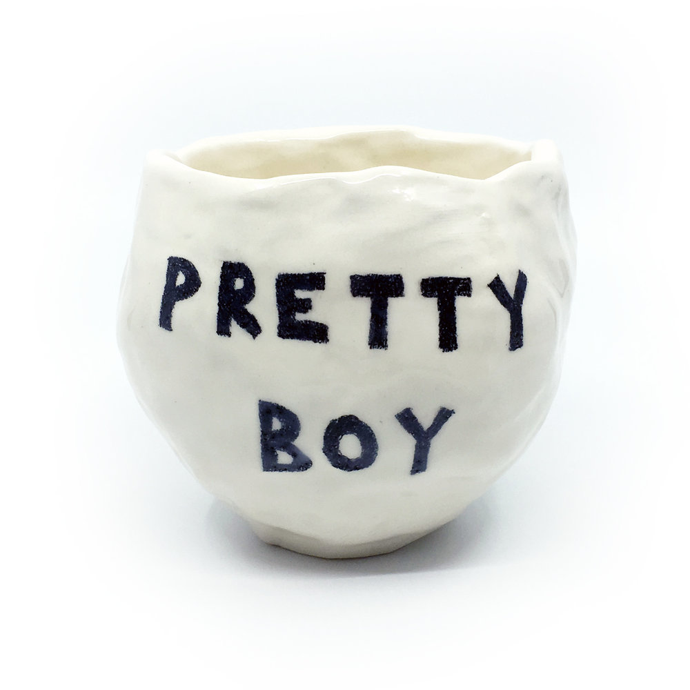 Pretty Boy    ceramic  (side 1)
