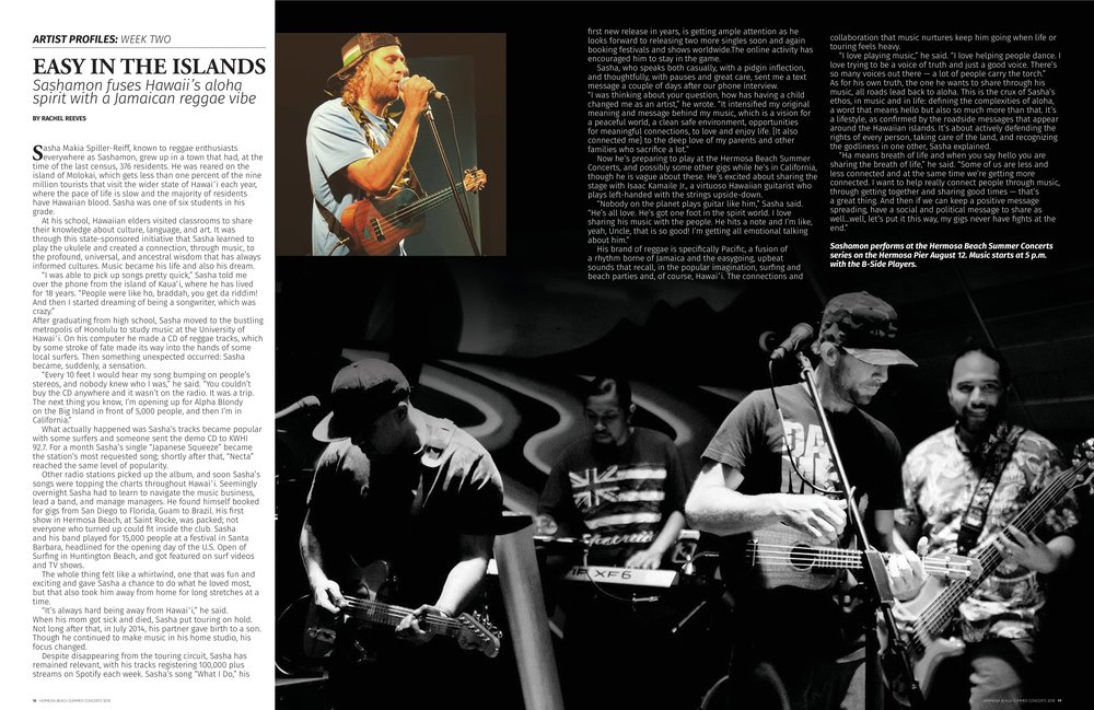 Profile for Hermosa Beach Summer Concerts Magazine, August 2018.
