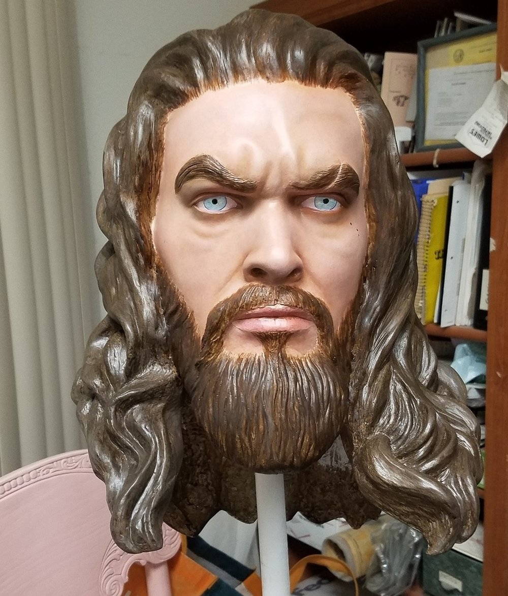 Aquaman Head Close up