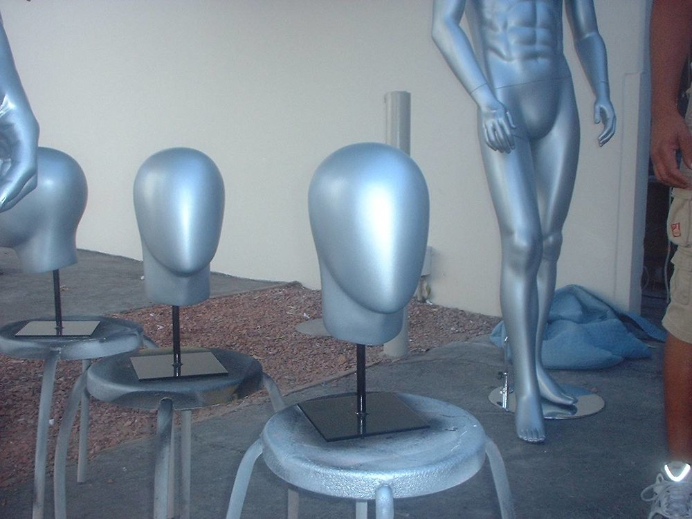 Male Abstract Heads on Stands