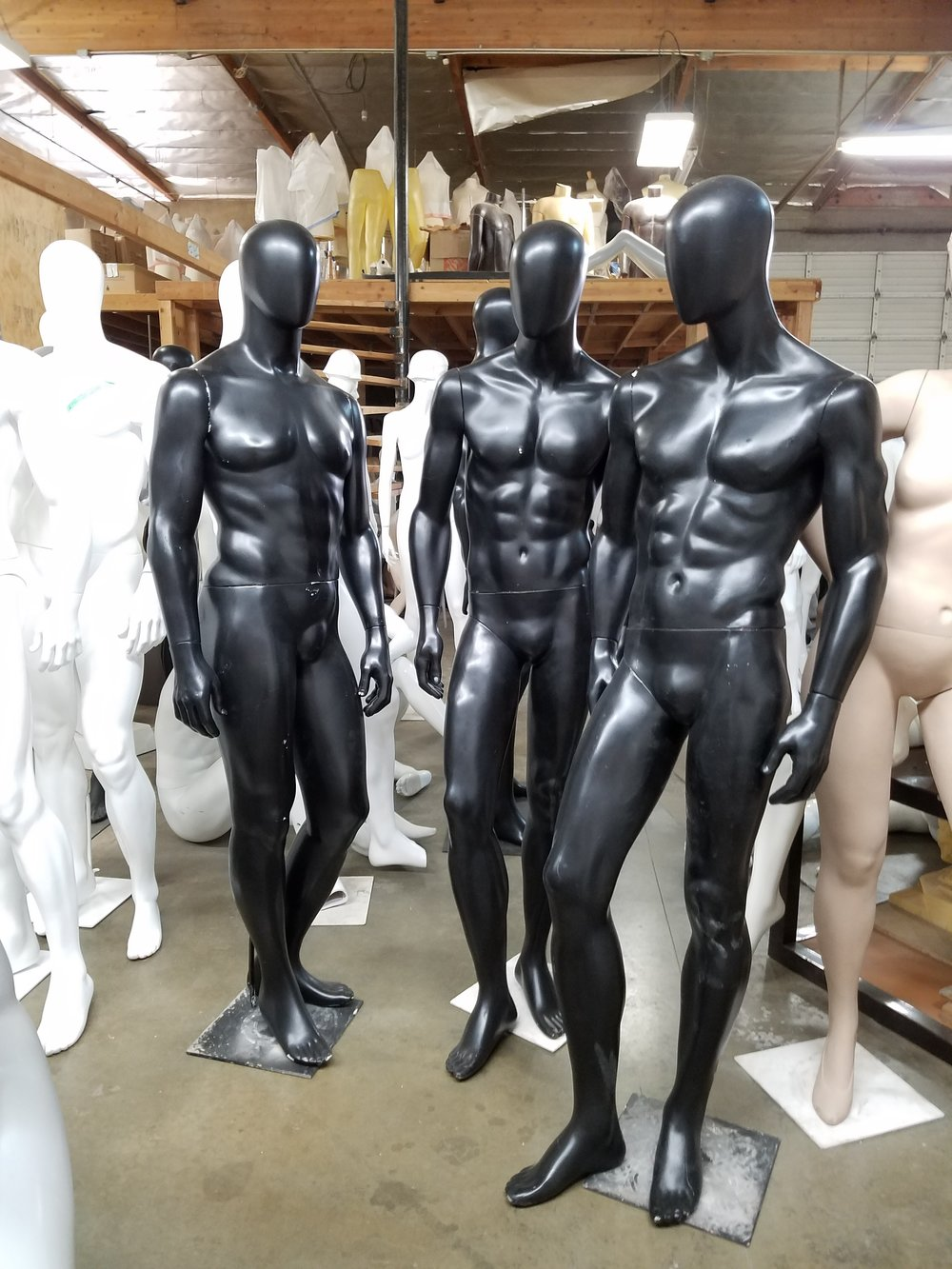 Male Abstracts in Satin Black