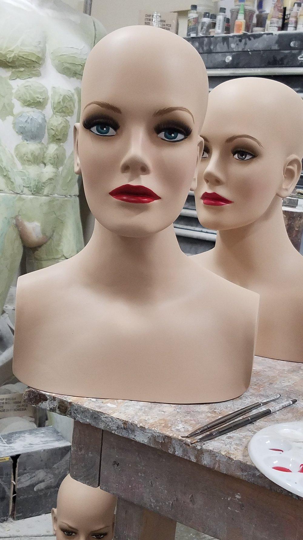 Vintage Bald Head Forms
