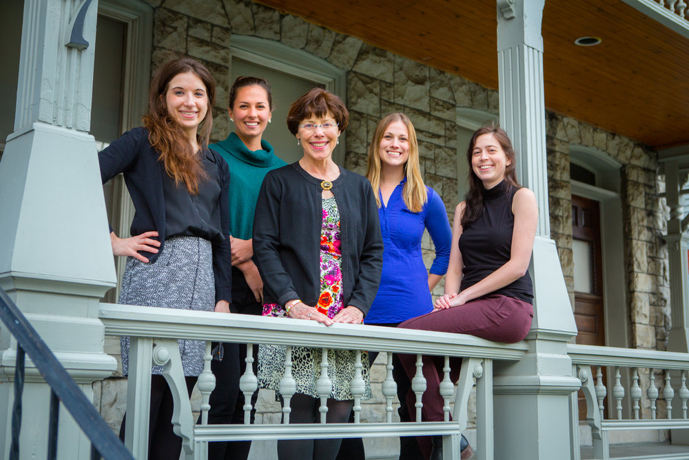 Dr Kim Griswold, Lauren Jepson, Sarah Riley, Rachel Engelberg, Kathleen Soltis