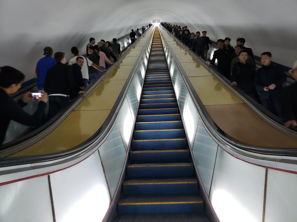 North Korea Tube Stairs