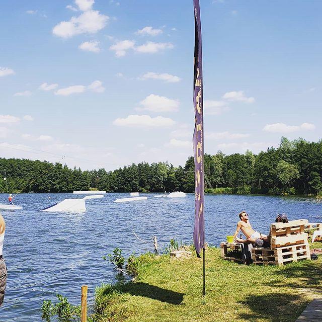 Nice time in Belgium #wakeboard #summer quite literally #wakeandbake