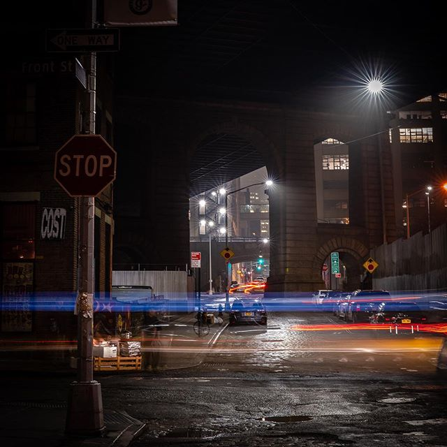 Ran across this old photo taken in #dumbobrooklyn a few years back... #brooklyn #newyorkcityphotographer #nightphotography #nycstreets #exploretocreate #exploreyourcity