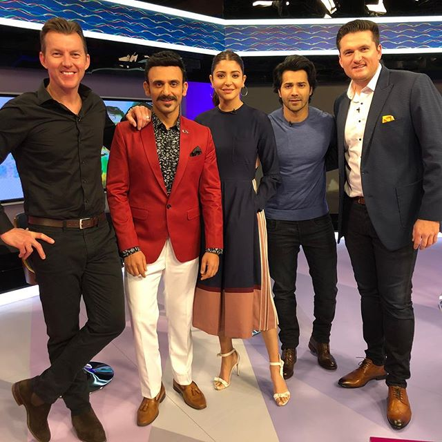 Good times shooting with this crew 🎥 🍿 @anushkasharma @varundvn @graemesmith49 @starsportsindia