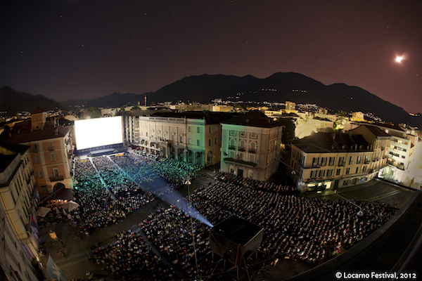 The iconic Piazza Grande, a film venue which takes over the city of Locarno for the duration of the film festival.