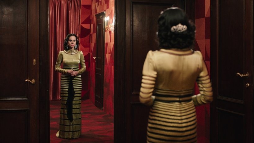 COURTESY OF VENICE DAYS  A still from Shirin Neshat's 'Looking for Oum Kulthum' featuring Yasmin Raeis