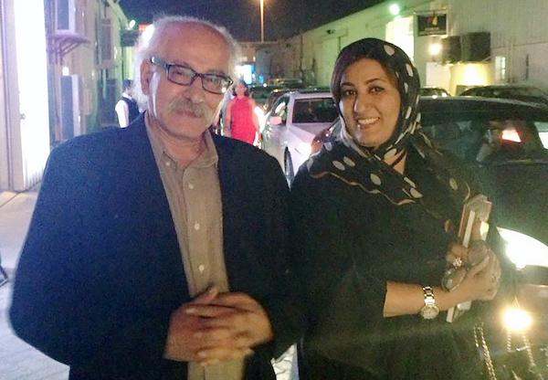 Hassan Sharif and Nujoom Al Ghanem