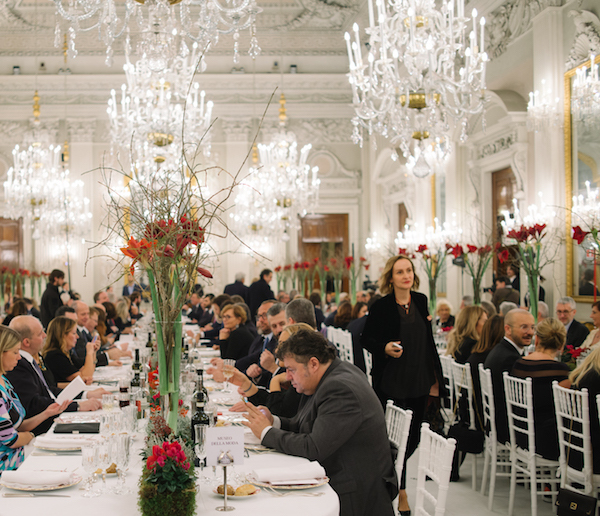 PHOTO BY VANNI BASSETTI, COURTESY OF PITTI IMMAGINE  The dinner in the Sala Bianca, organized by the Centro di Firenze per la Moda Italiana