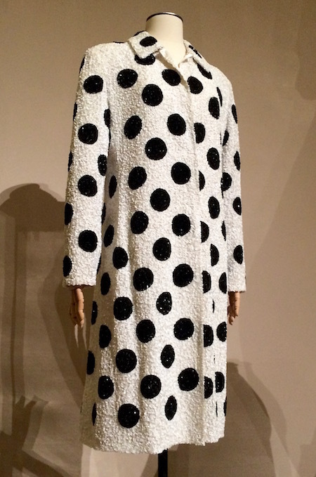 Polka dots give this Valentino sequins evening coat from circa 1988 a whimsical touch, a playfulness almost that makes it simply perfect