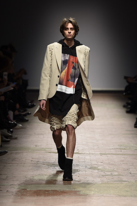 PHOTO BY GIOVANNI GIANNONI, COURTESY OF PITTI IMMAGINE  A look from Bmuet(te) at Concept Korea