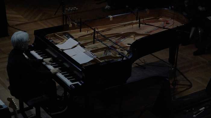 A still from 'RYUICHI_SAKAMOTO: async AT THE PARK AVENUE ARMORY'