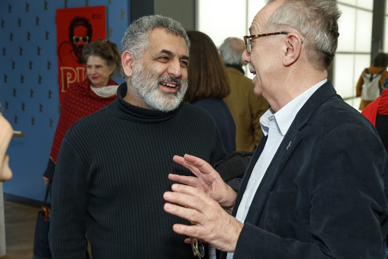 Filmmaker Mani Haghigi and Berlinale Director Dieter Kosslick  Photo courtesy of Berlinale