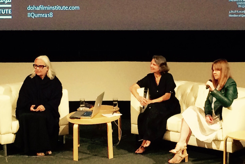 From left, Brigitte Lacombe, Marian Lacombe and Emma Jones