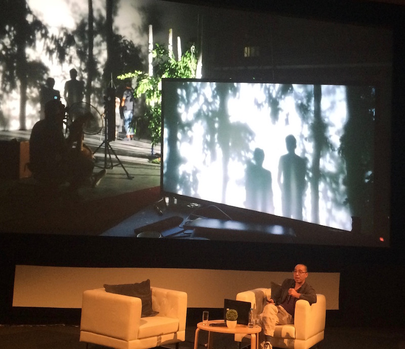 Apichatpong Weerasethakul during the presentation part of his masterclass at this year's Qumra