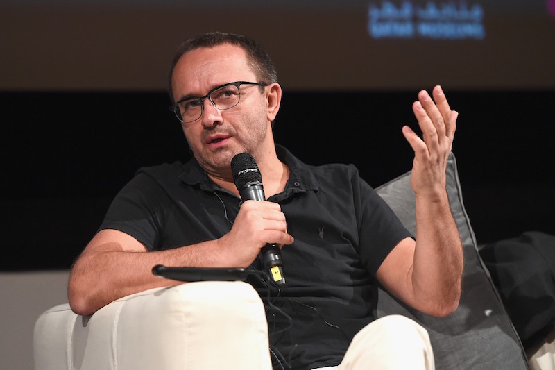Russian filmmaker Andrey Zvyagintsev during his masterclass at this year's Qumra in Doha  Photo courtesy of the Doha Film Institute