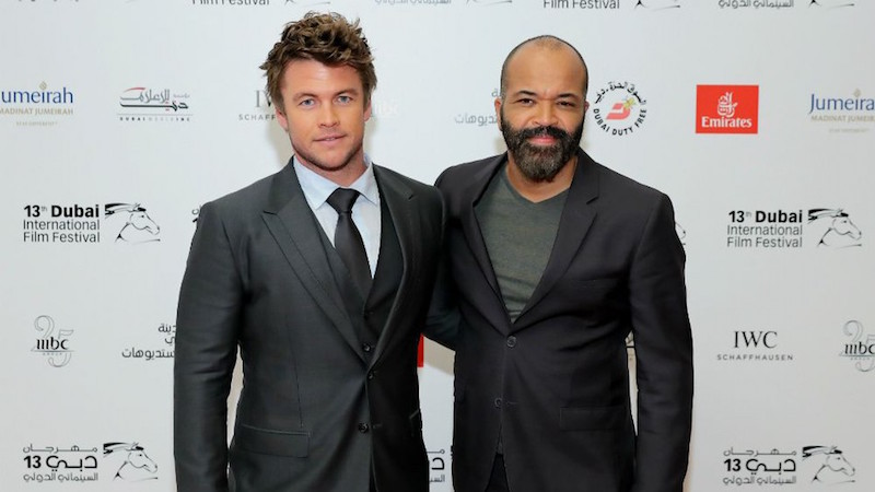 Jeffrey Wright with Luke Hemsworth on the Dubai International Film Festival red carpet in 2016  Photo courtesy of DIFF