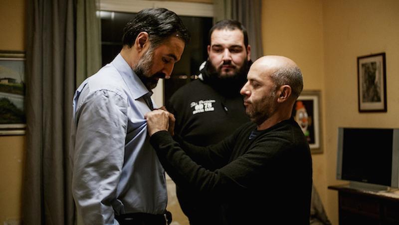 Vincenzo Marra, left, directing Mimmo Borrelli in 'Equilibrium'