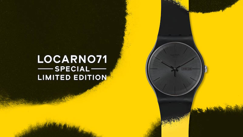 The Locarno 71 special edition Swatch watch