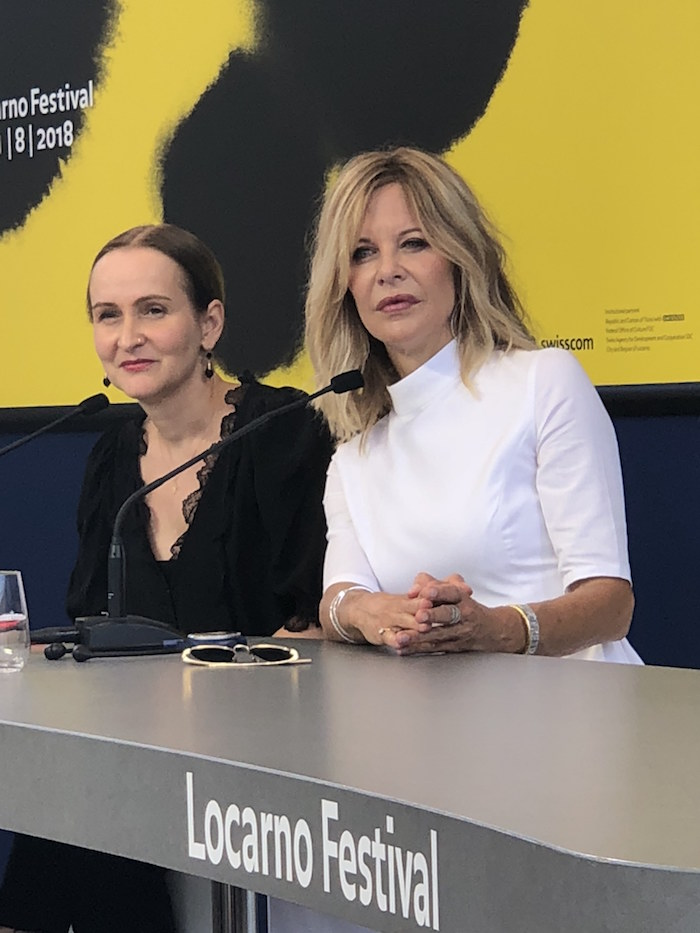 With Meg Ryan, at this year's Locarno Festival, photo by Lukas Osiecki
