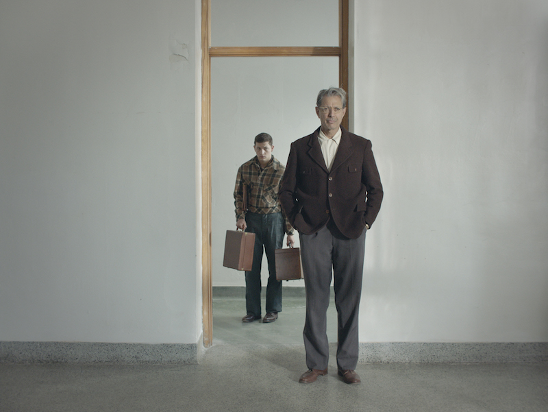 Tye Sheridan and Jeff Goldblum in a still from Rick Alverson's 'The Mountain'