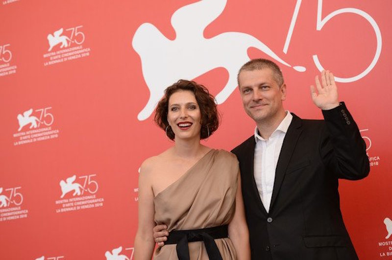 Natalya Merkulova and Alexey Chupov at the photocall in Venice