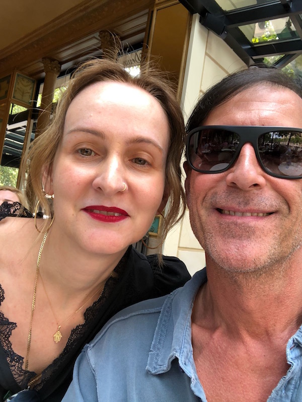 With Richard in Paris, this past summer…