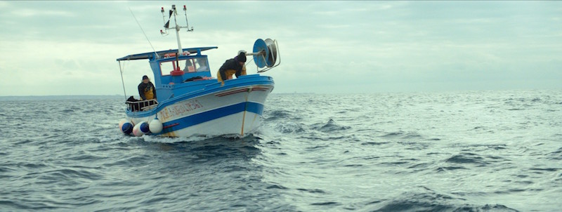 A still from 'Rosso: a true lie about a fisherman' by Antonio Messana