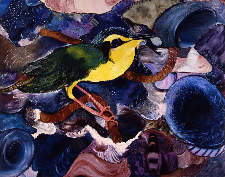 "South America, 1986    Oil on Canvas (7""4"" x 58"")    Robert Abrams Collection, New York"