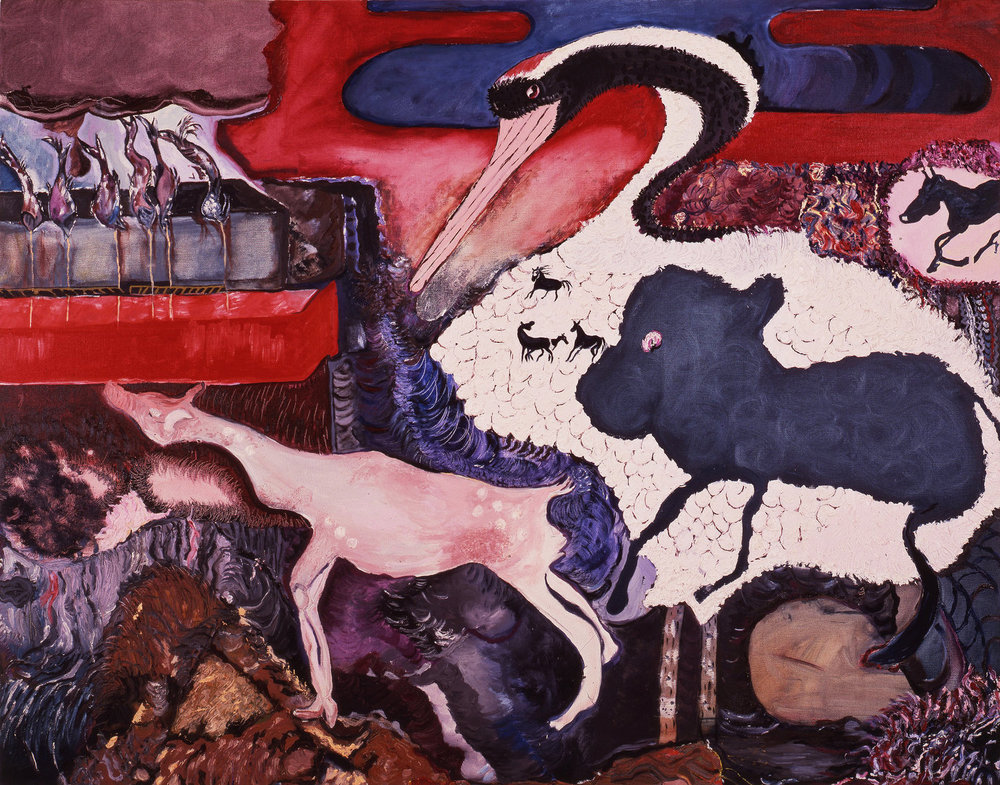 "Asia, 1987    Oil on Canvas (74"" x 58"")    Robert Abrams Collection, New York"