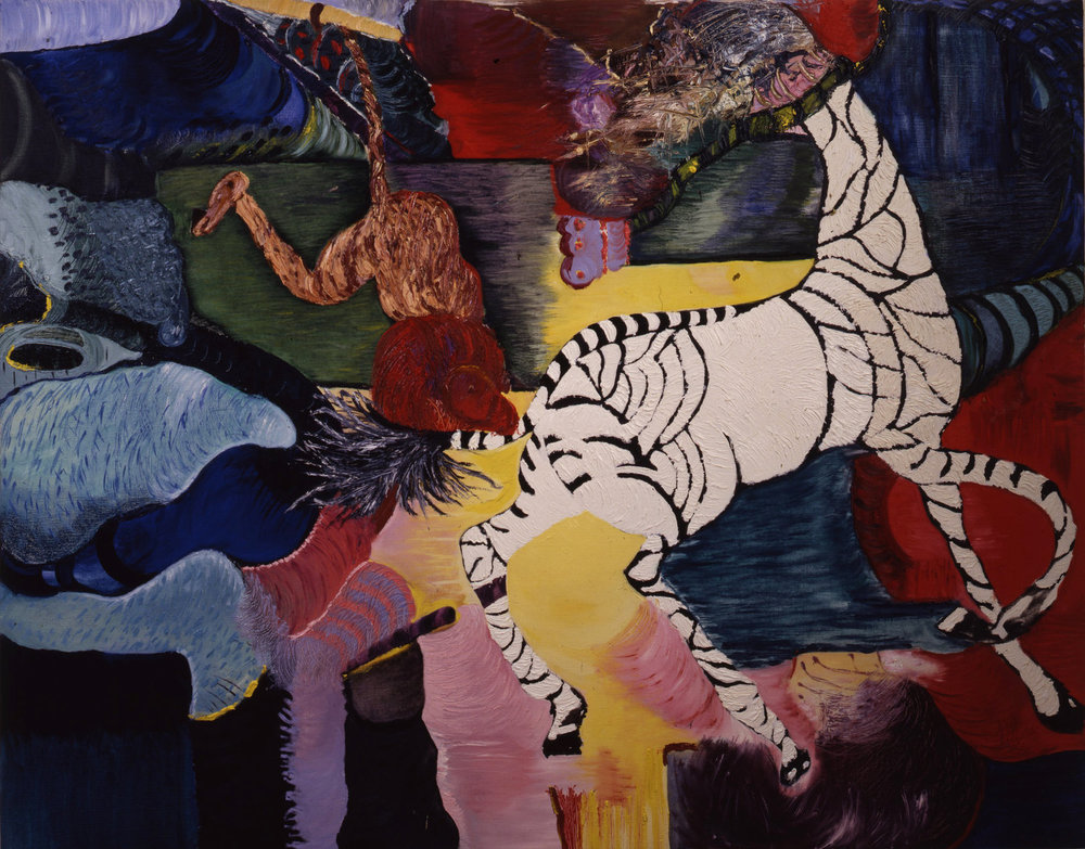 "Africa, 1987    Oil on Canvas (74"" x 58"")    Robert Abrams Collection, New York"