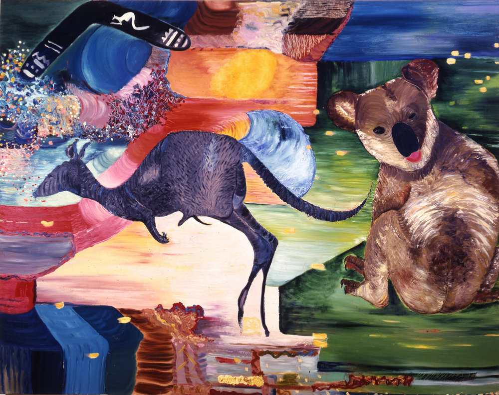 "Australia, 1987    Oil on Canvas (74"" x 58"")    Robert Abrams Collection, New York"