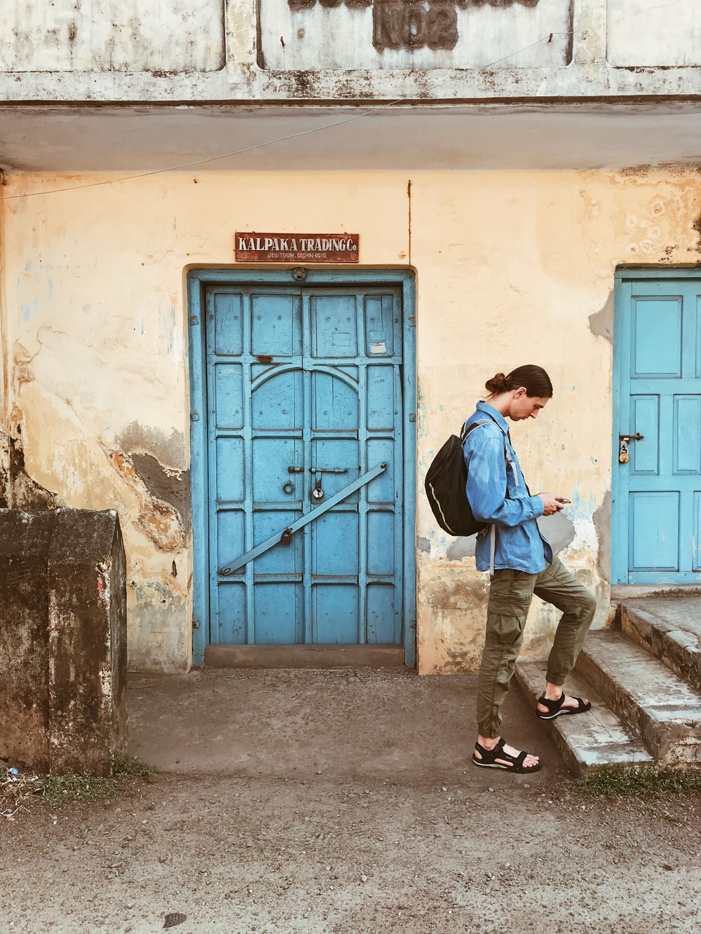 Getting lost on our very first day -in Jew Town, Mattancherry (Yes, that's what it's really called)