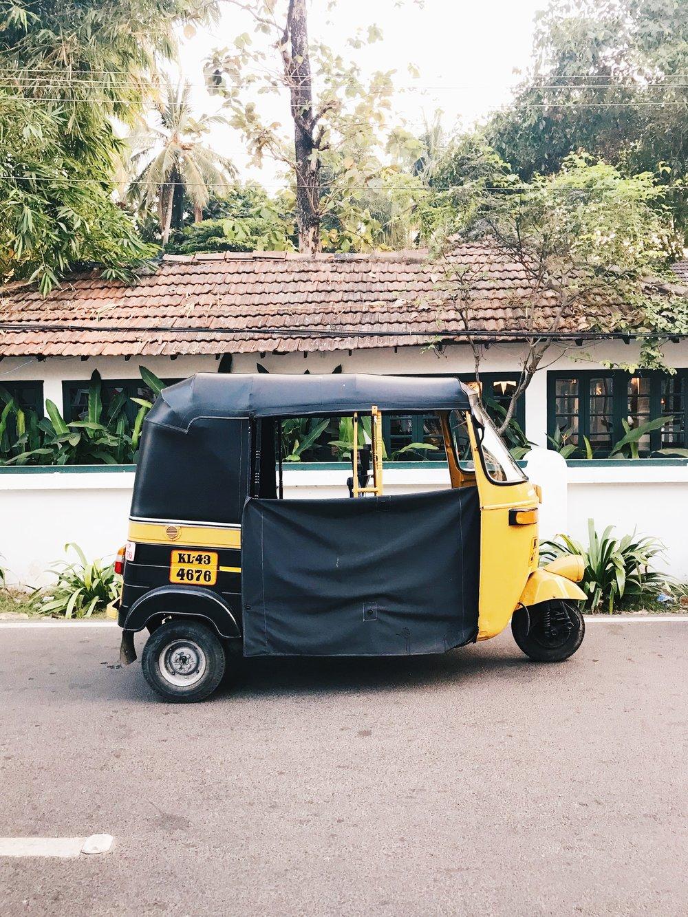 Just a tuk tuk outside Oceanos, Fort Kochi