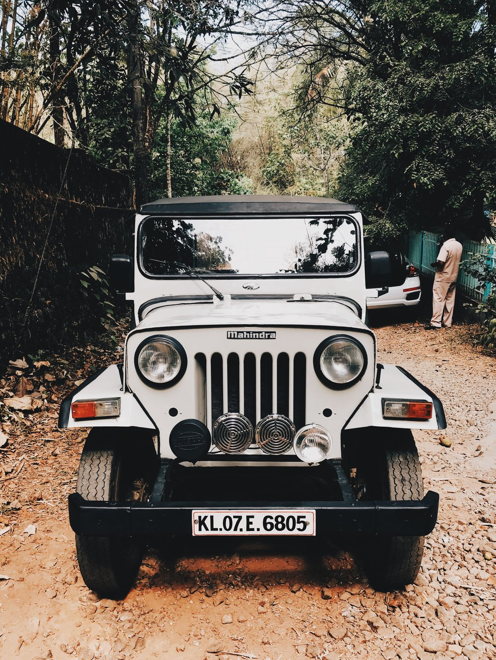 The Jeep that took us on little expeditions!