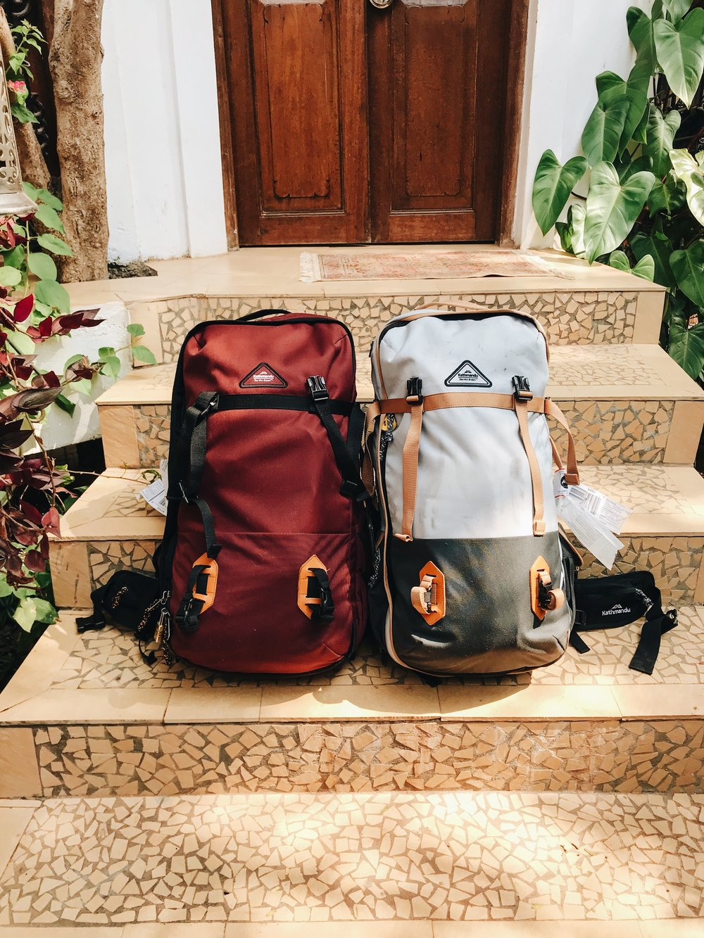 4. Our fantastic backpacks - carrying our lives with us everywhere!