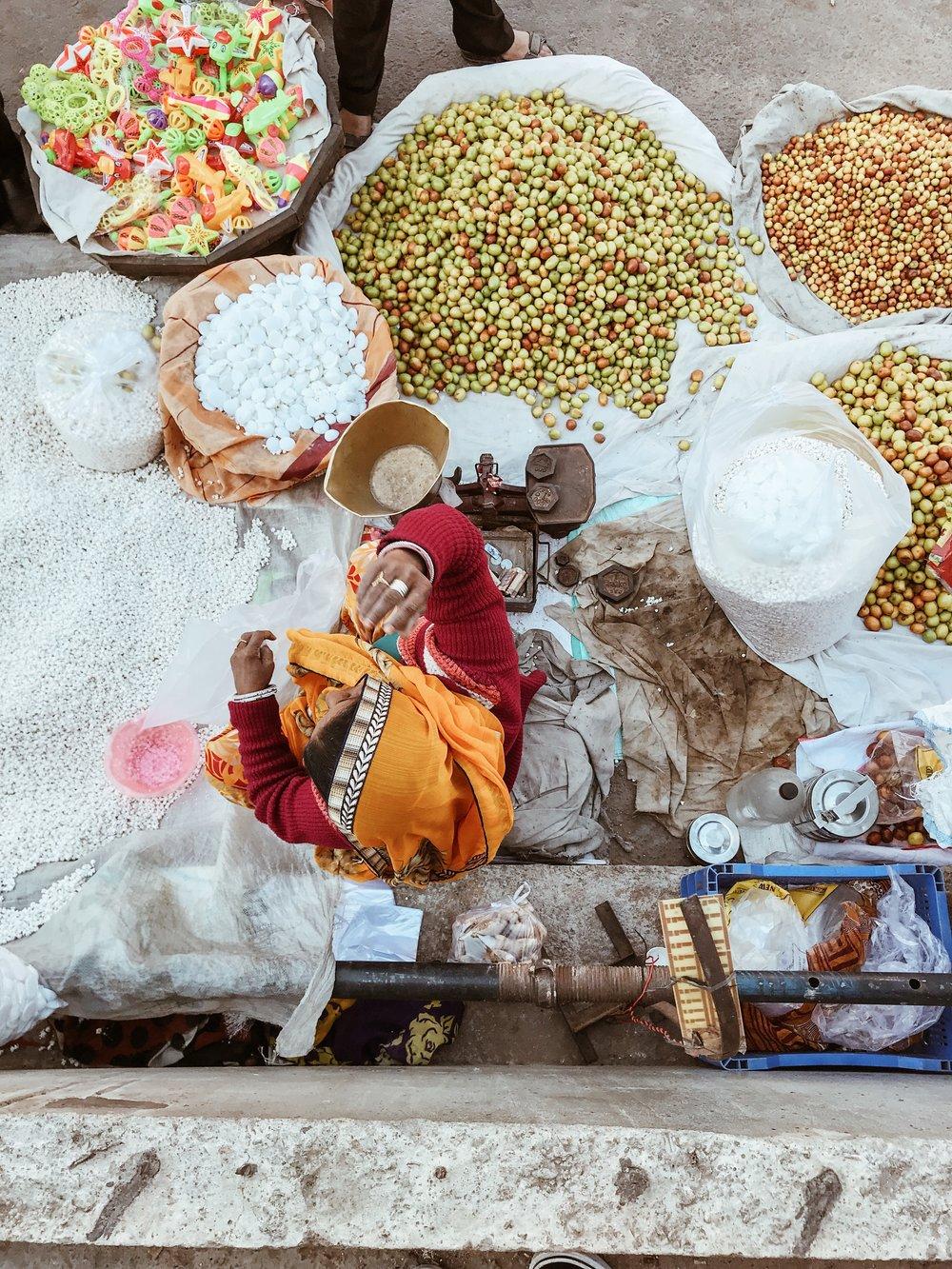 Lady selling Grain, Johari Bazaar