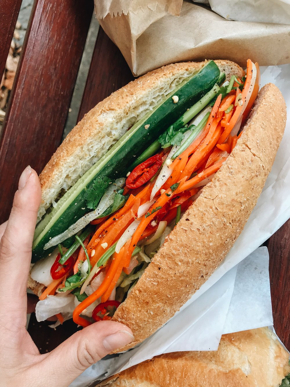 Salad packed Banh Mi from Banh Mi Co, Pyrmont
