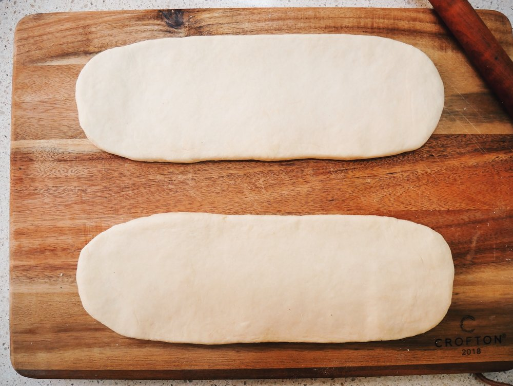 Step 5. Complete! Two even dough panels!