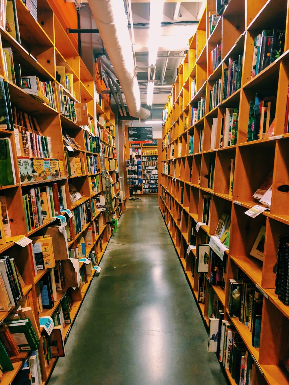 Spend the day getting lost in  Powell's City of Books