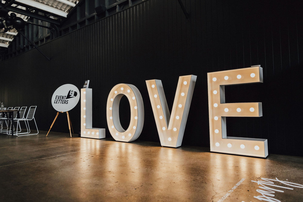 Light up 1.2m letters by  Event Letters